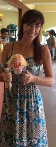 Pretty lady with shave ice